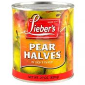 Lieber's Pear Halves in Light syrup 29 oz