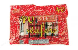 Gefen 40pk Chocolate Coated Wafers 28.8 oz