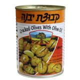 Kvuzat yavne cracked olives with olive oil spicy 19 oz