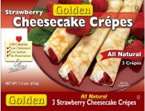 Golden Strawberry Cheesecake Crepes 7.5 oz