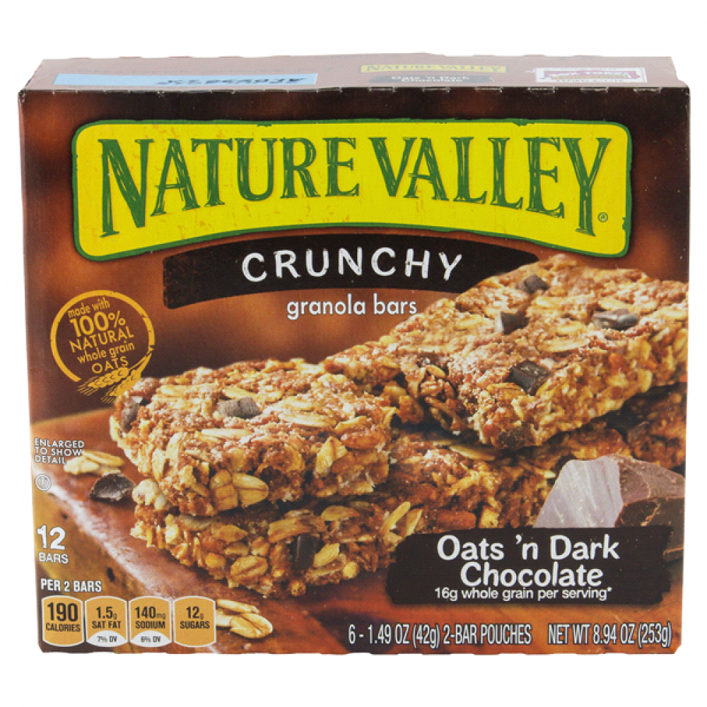 Nature Valley Crunchy Granola Bars Oats 'n Dark Chocolate 6-(1.49 oz)