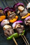 Grilled Beef Kebabs with Mushrooms & Onions Serves 12 People
