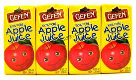 Gefen 100% Apple Juice 4 6.75 oz