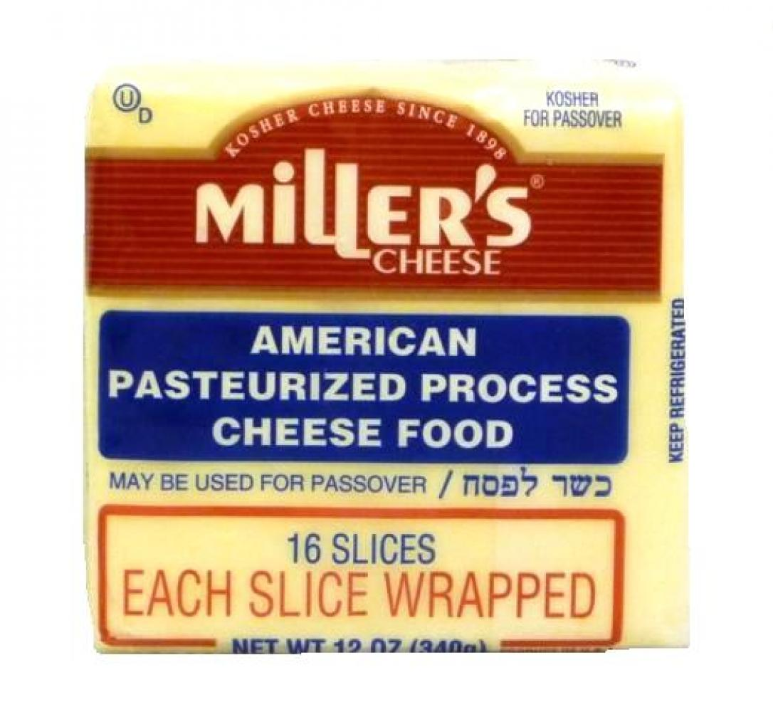 Miller's American White Cheese 16 Slices 12 oz