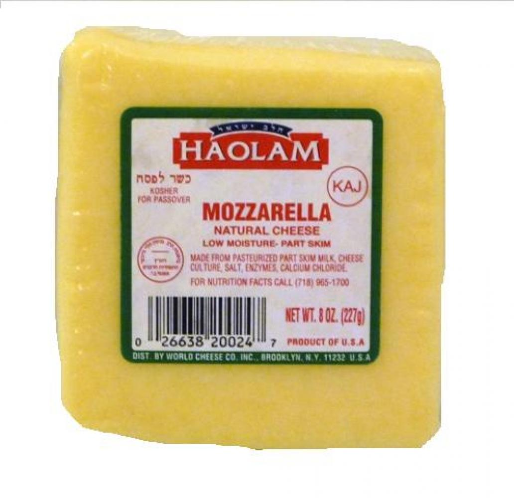 Haolam Mozzarella Natural Cheese Low Moisture Part Skim 8 oz