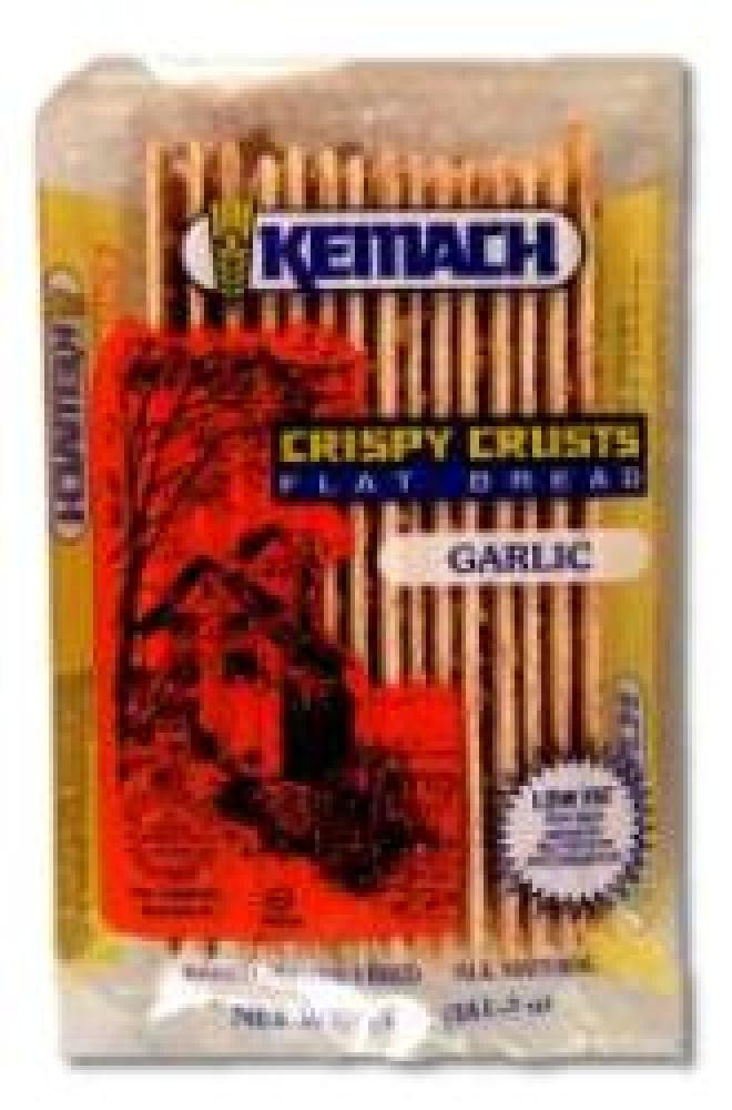 Kemach Crispy Crust Flat Bread Garlic Flavor 5 oz