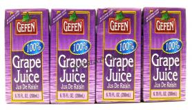 Gefen 100% Grape Juice 6.75 oz - 4 Pack