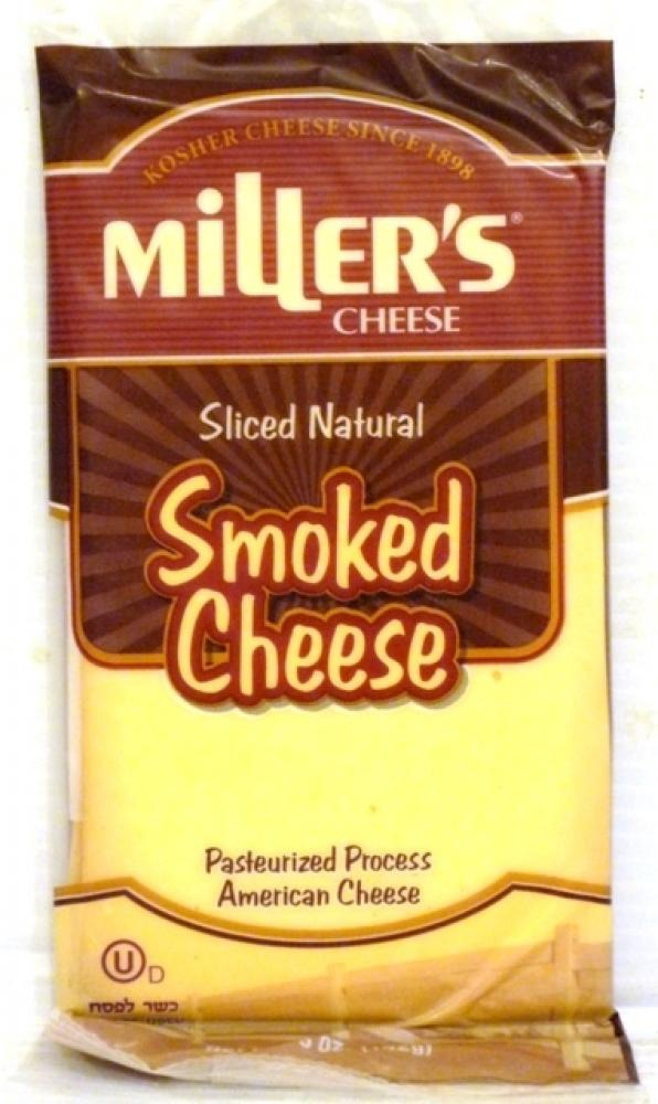 Miller's Sliced Natural Smoked Cheese 5 oz