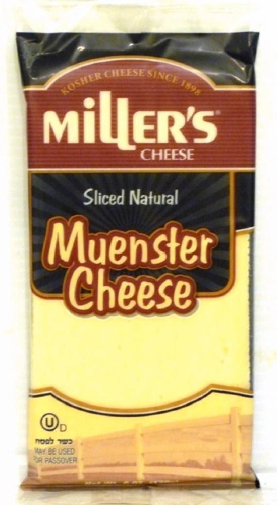 Miller's Sliced Natural Muenster Cheese 6 oz