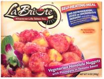 Labriute Vegetarian Honolulu Nuggets with Pineapple in Tomato Sauce 14 oz