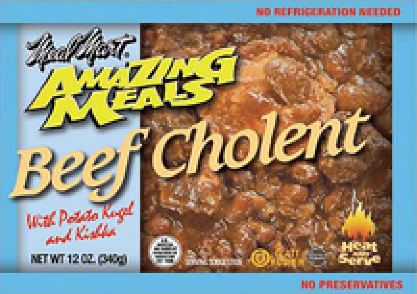 Meal Mart Amazing Meals Beef Cholent with Potato Kugel and Kishka 12 oz