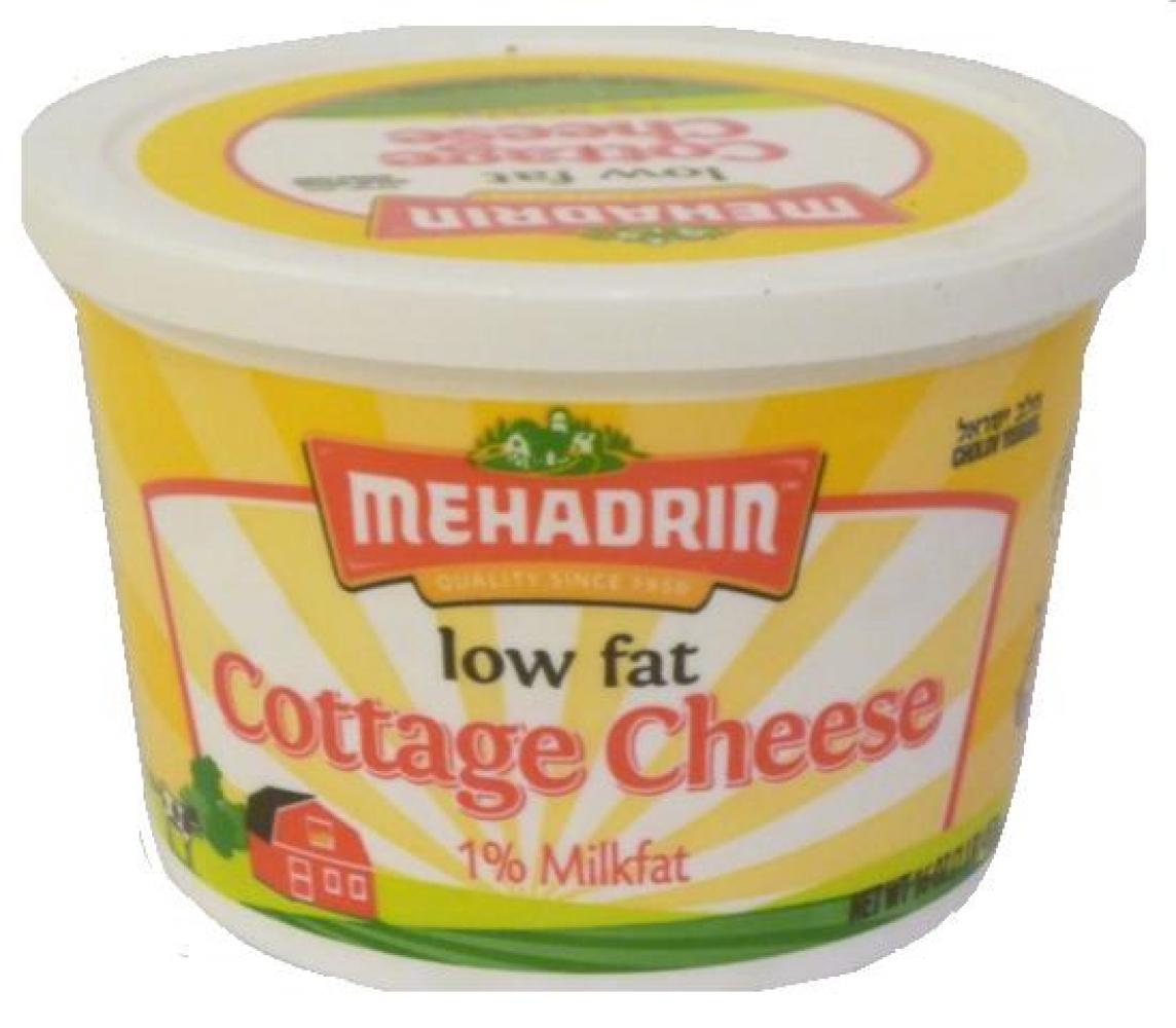 Mehadrin Low Fat Cottage Cheese 1% Milk fat 16 oz