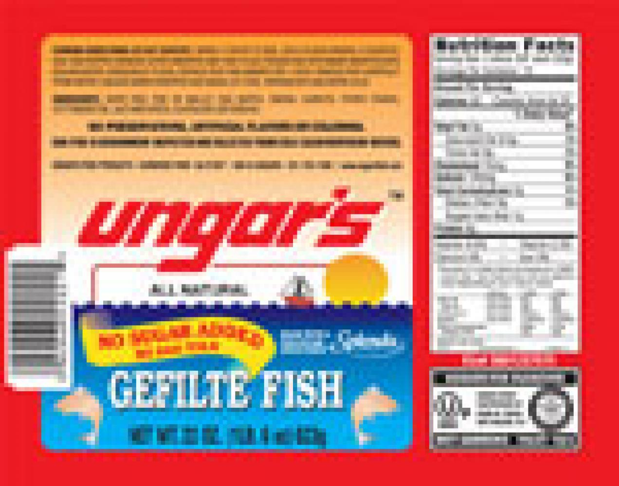 Ungar's All Natural No Sugar Added Gefilte Fish Passover 22 oz