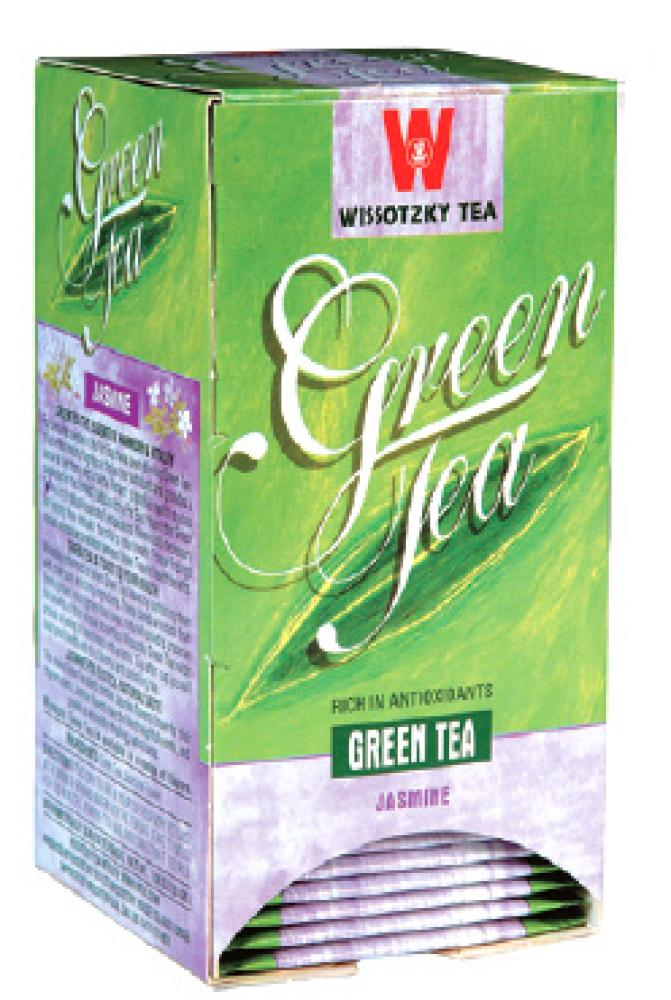 Wissotzky Green Tea Jasmine 20 Bags - 1.06 oz