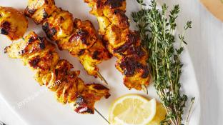 Baby Chicken Shish Kebab with one Free Side Dish
