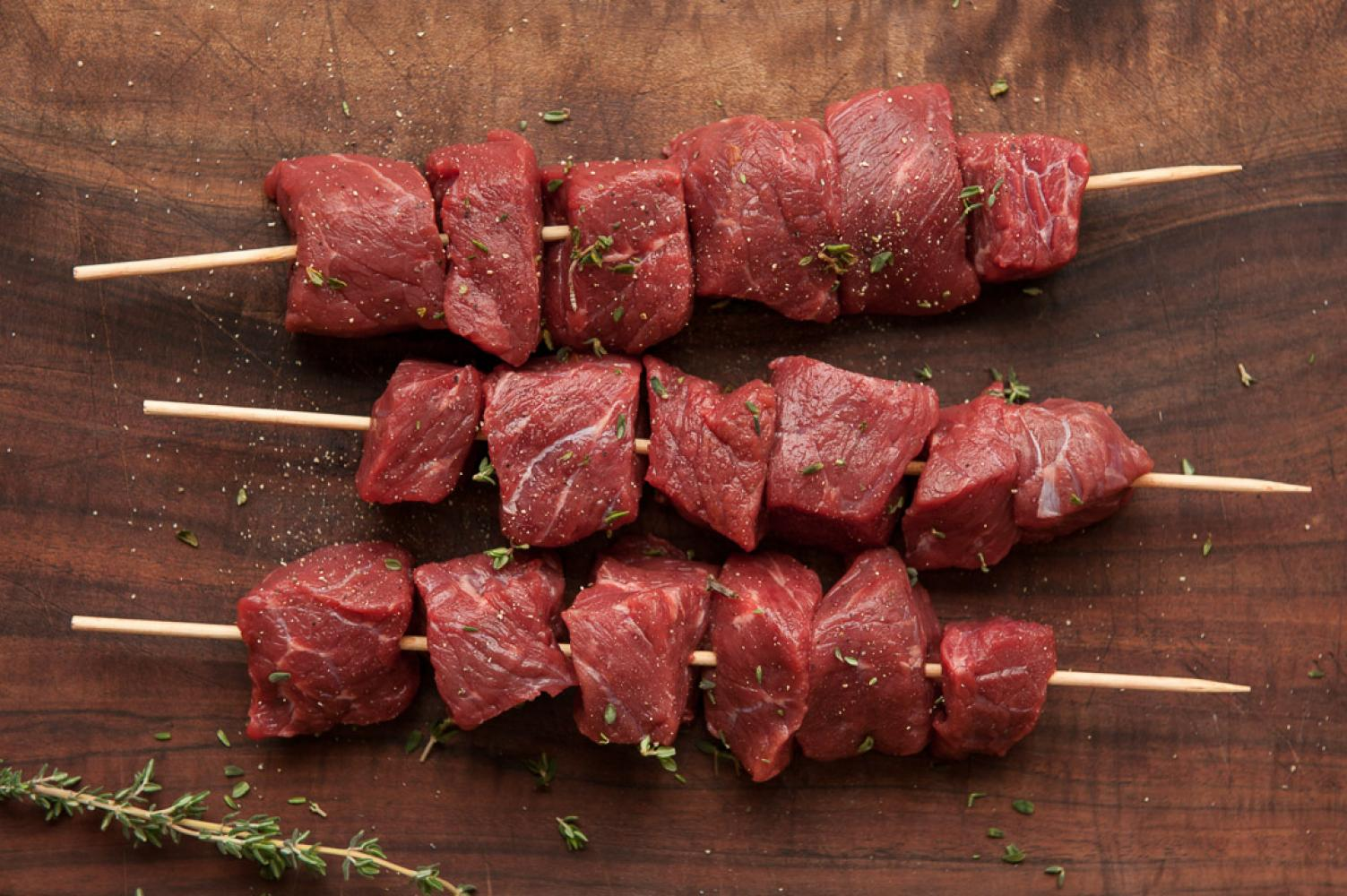 Beef Shish Kebabs on the Skewers (5 pcs) 1.25 lb Pack