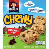 Quaker Chewy Chocolate Chip Granola Bar Box of 8