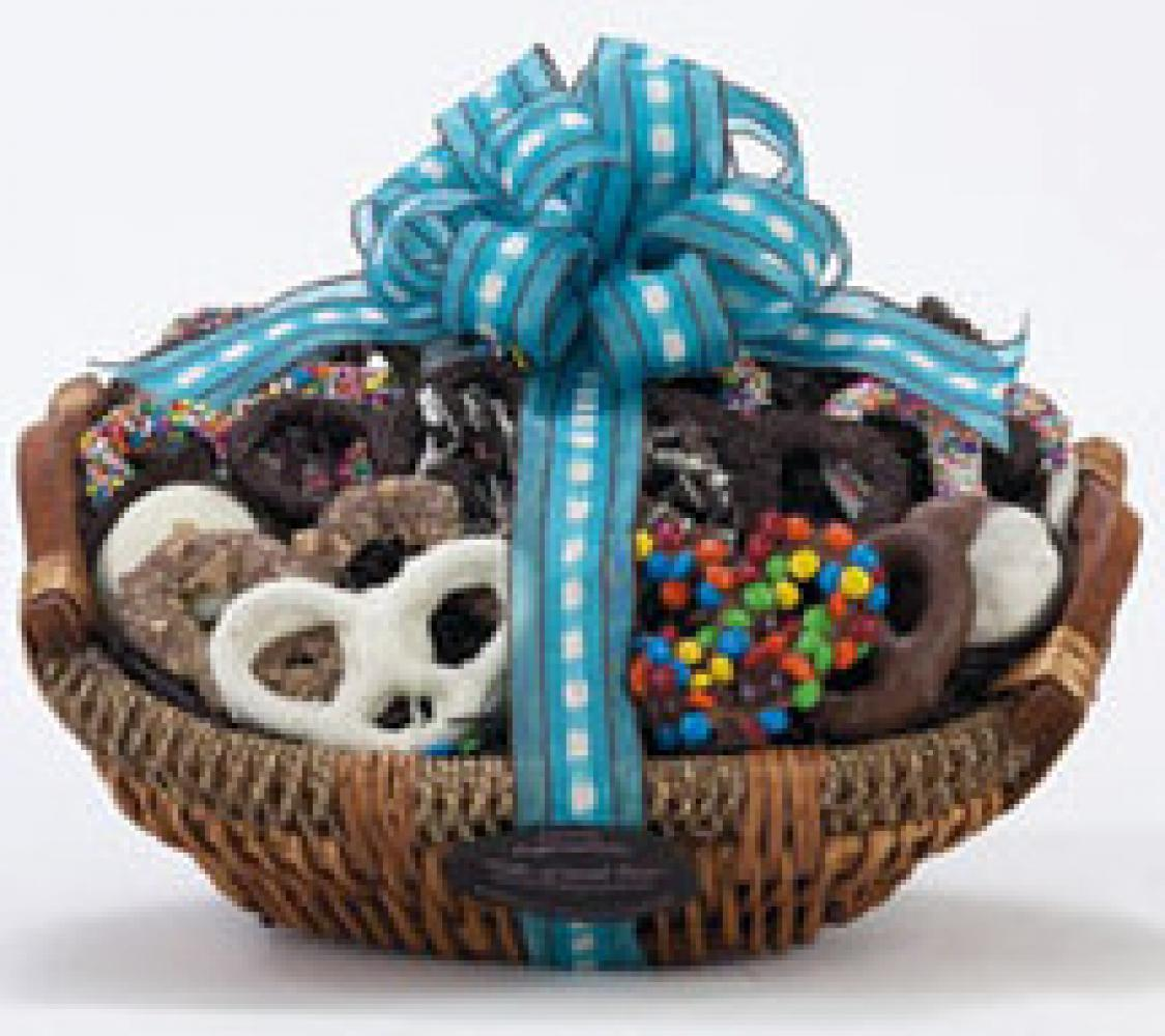 Deluxe Chocolate Covered Pretzels Gift Basket