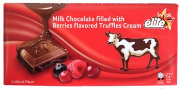 Elite Milk Chocolate filled with Berries Flavored Truffles Cream 3.5 oz