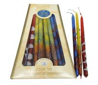 Safed Candles Hand Crafted Multi-color Fancy Candles