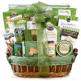 Green Holiday Deluxe Gift Basket