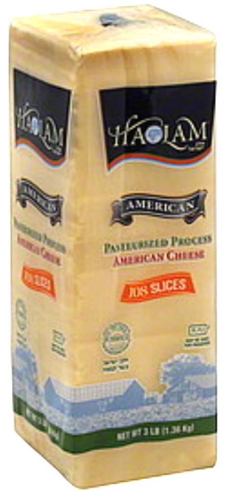 Haolam American Yellow Cheese 108 Slices 3lbs.