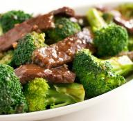 Beef with Broccoli and White Rice