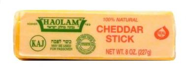 Haolam 100% Natural Yellow Cheddar Stick 8 oz