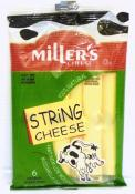 Miller's String Cheese 6ct 6 oz