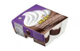 Strauss Mini Milky Chocolate flavored Pudding With Vanilla Flavored Whipped Topping  4pk (2.47 oz)