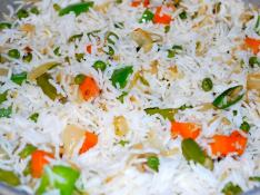 White Rice with Vegetables Serves 12 People